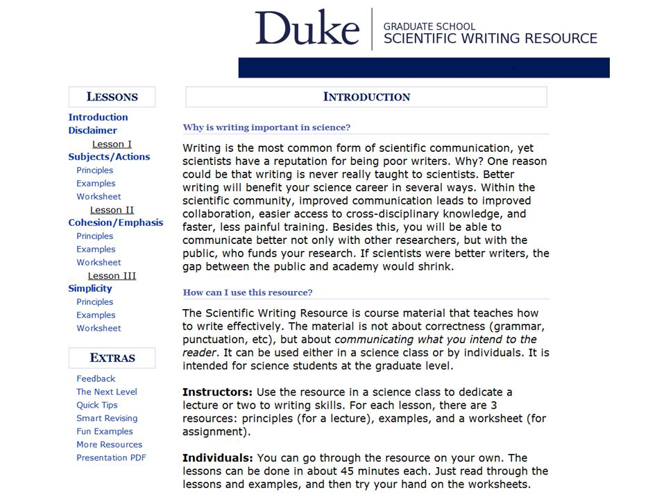 https://cgi.duke.edu/web/sciwriting/index.php