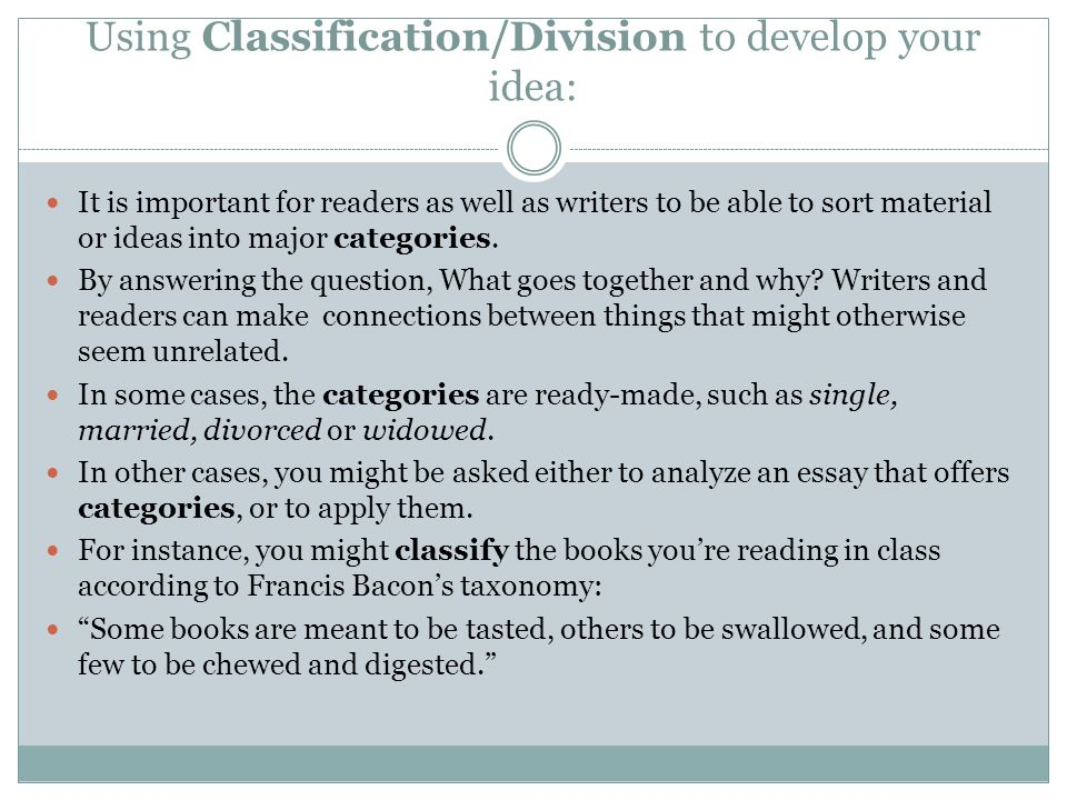 Classification and division - Write my Essay - I need help