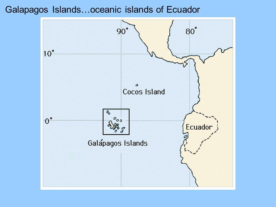 Galapagos Islands…oceanic islands of Ecuador