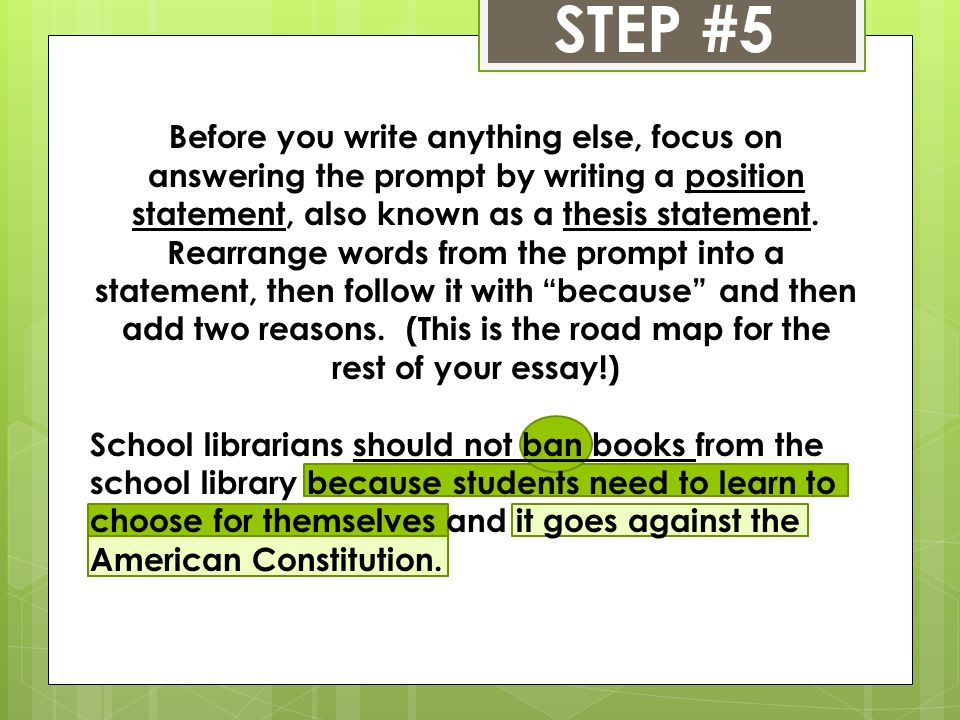 steps for writing a staar persuasive essay ppt video online  6 step