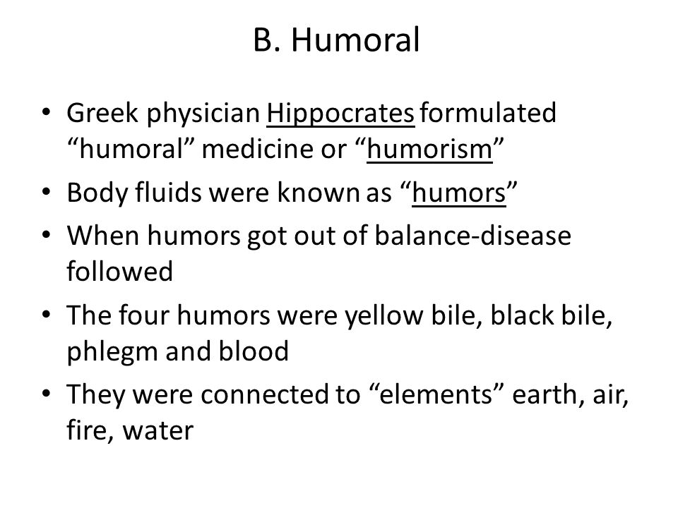 the four humors of hippocrates