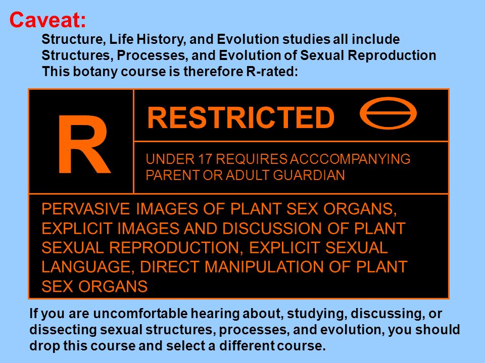 Caveat:Structure, Life History, and Evolution studies all include. Structures, Processes, and Evolution of Sexual Reproduction.