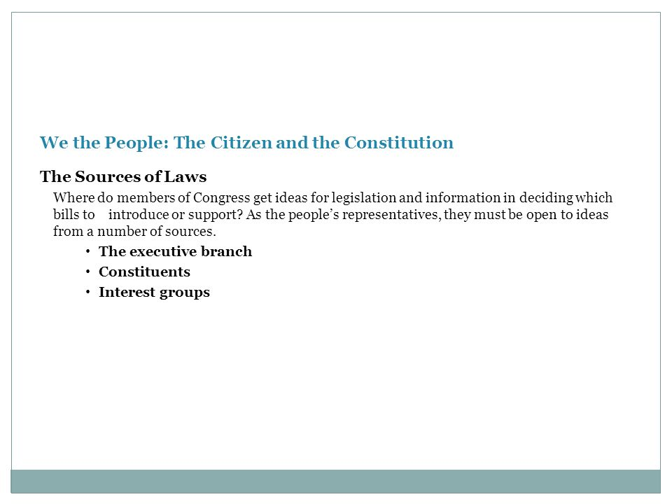 We the People: The Citizen and the Constitution