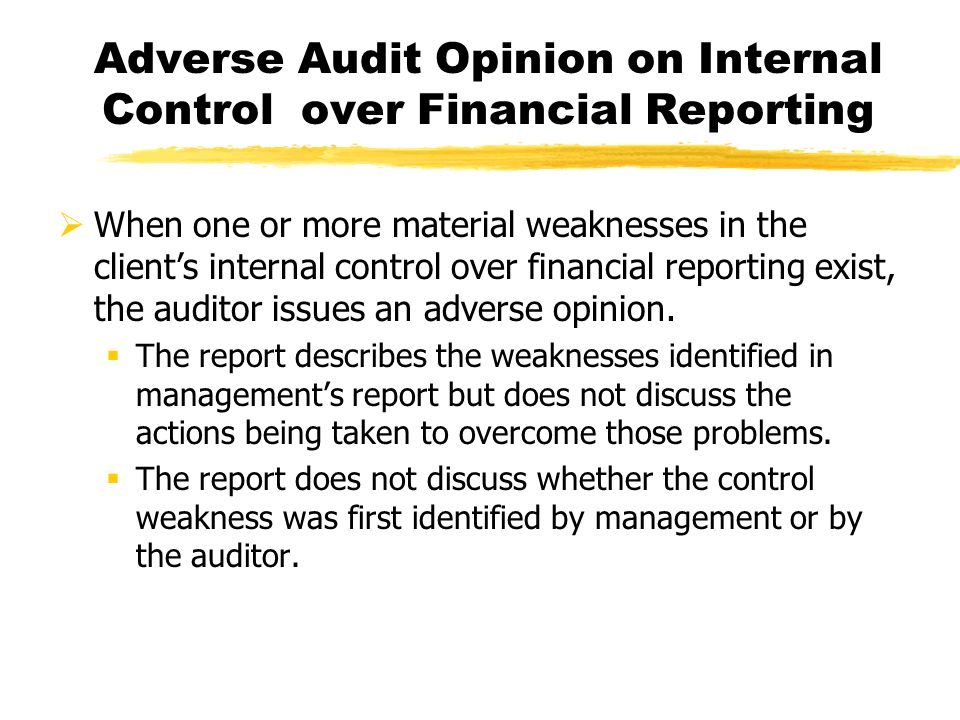 week 1 internal accountant s report The securities and exchange commission (sec) requires fn 1 a registrant to engage an independent accountant to review the registrant's interim financial information, in accordance with this section, before the registrant files its quarterly report on form 10-q or form 10-qsb the sec also requires management, with the participation of the principal executive and financial officers (the.