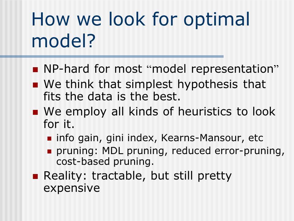 How we look for optimal model