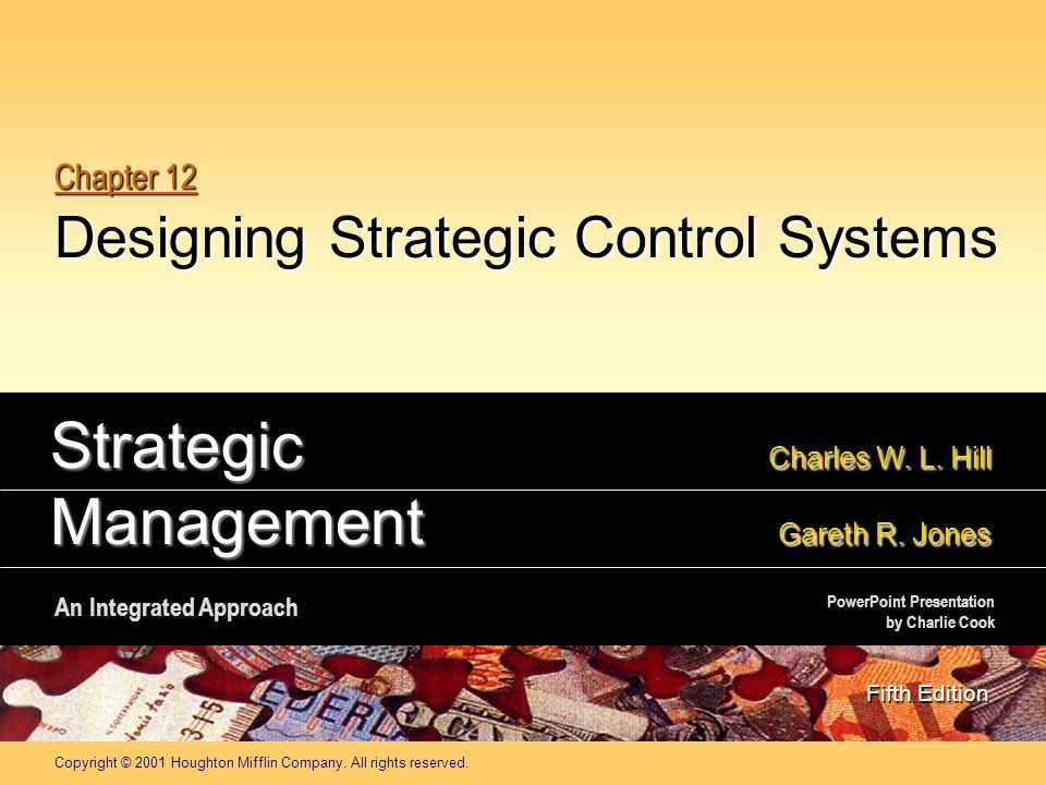 strategic control systems Information, along with energy and materials, is a basic resource in today's world thousands of business firms in many industries could no operate without the basic.