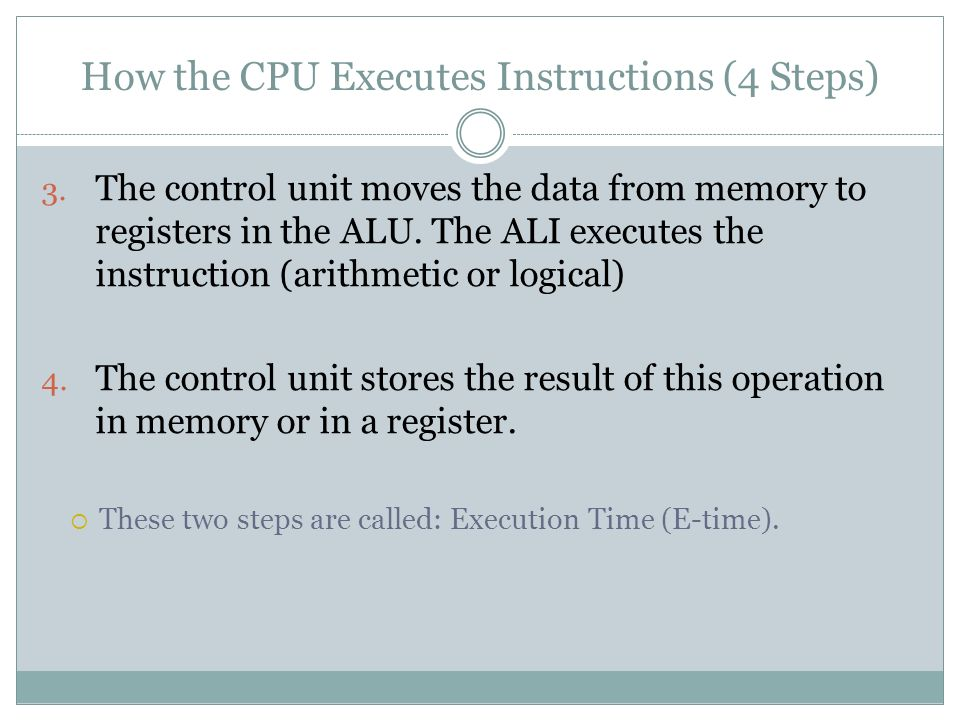 How the CPU Executes Instructions (4 Steps)