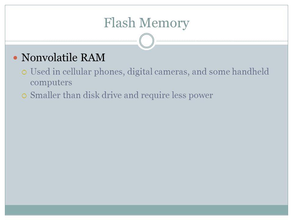 Flash Memory Nonvolatile RAM