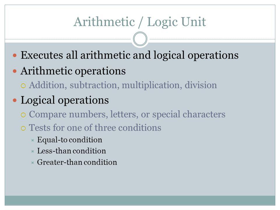 Arithmetic / Logic Unit