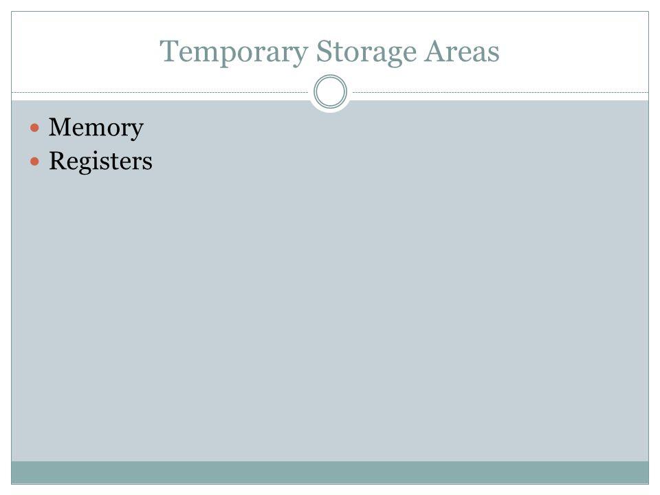 Temporary Storage Areas