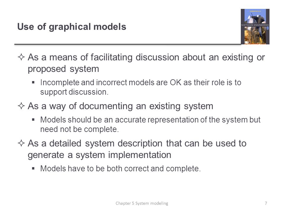 Use of graphical models
