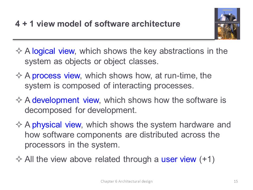 4 + 1 view model of software architecture