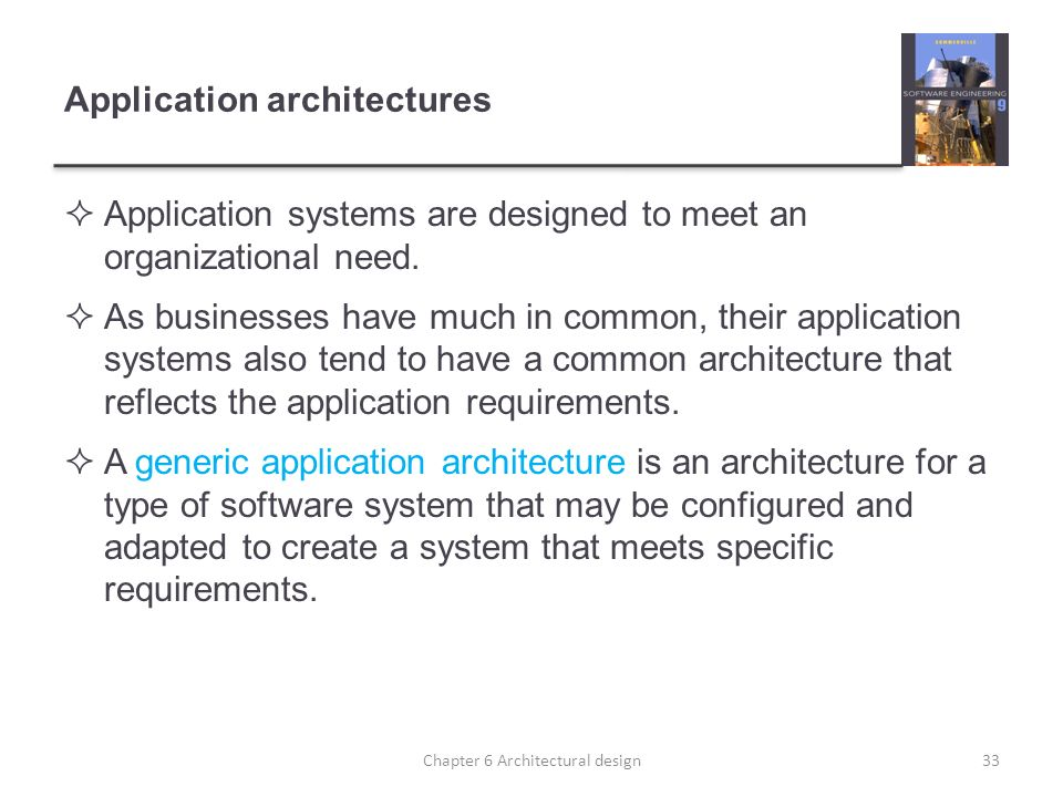 Application architectures