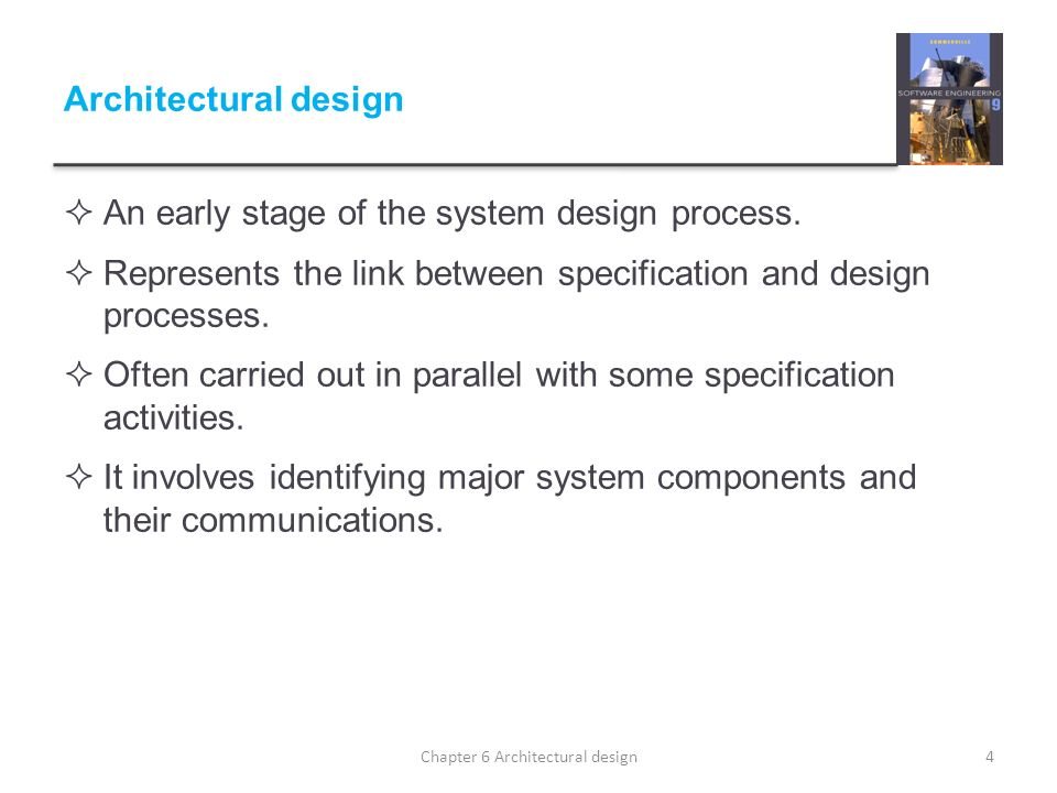Chapter 6 Architectural design