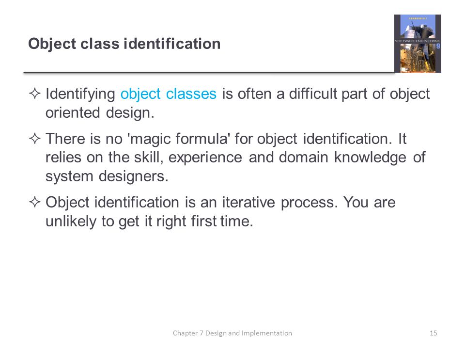 Object class identification