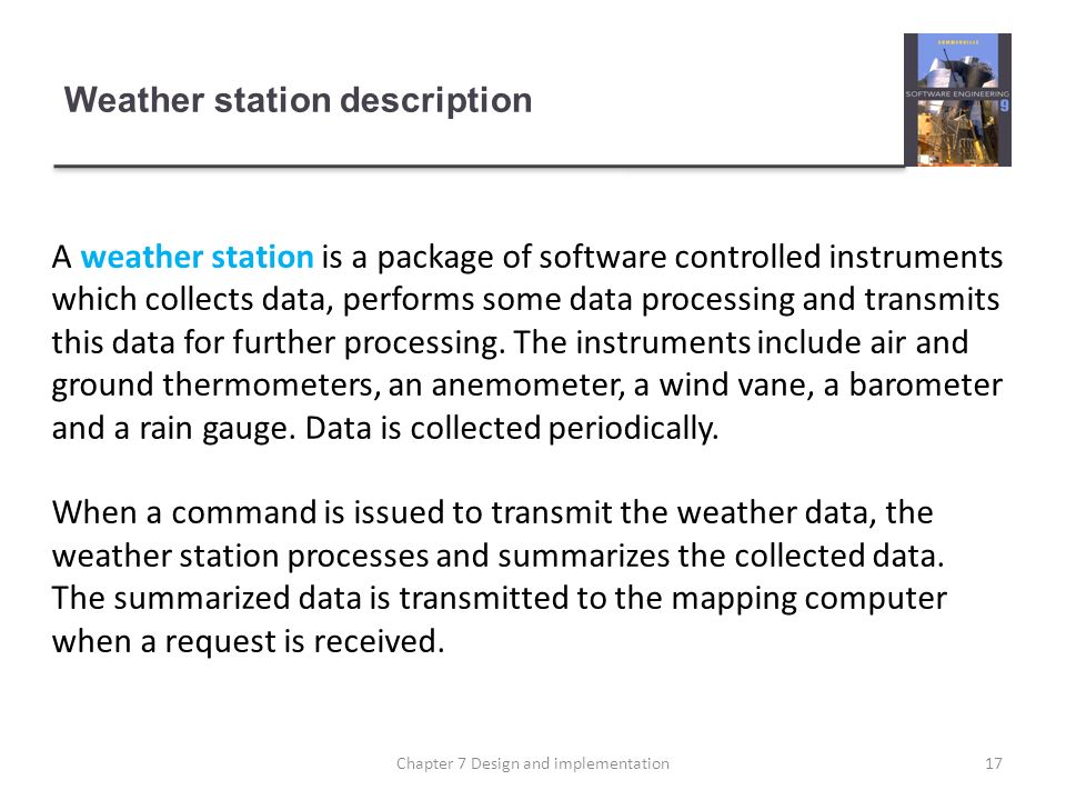 Weather station description