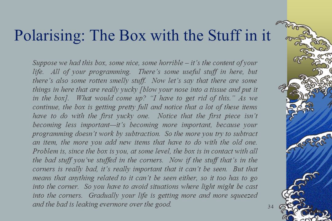 Polarising: The Box with the Stuff in it