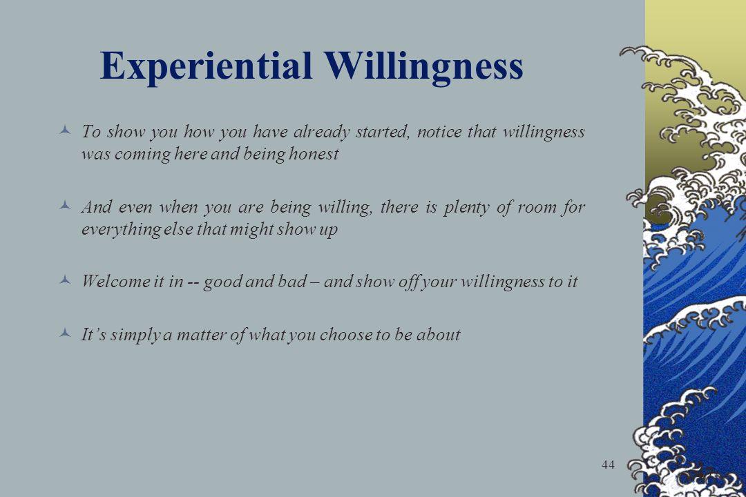 Experiential Willingness