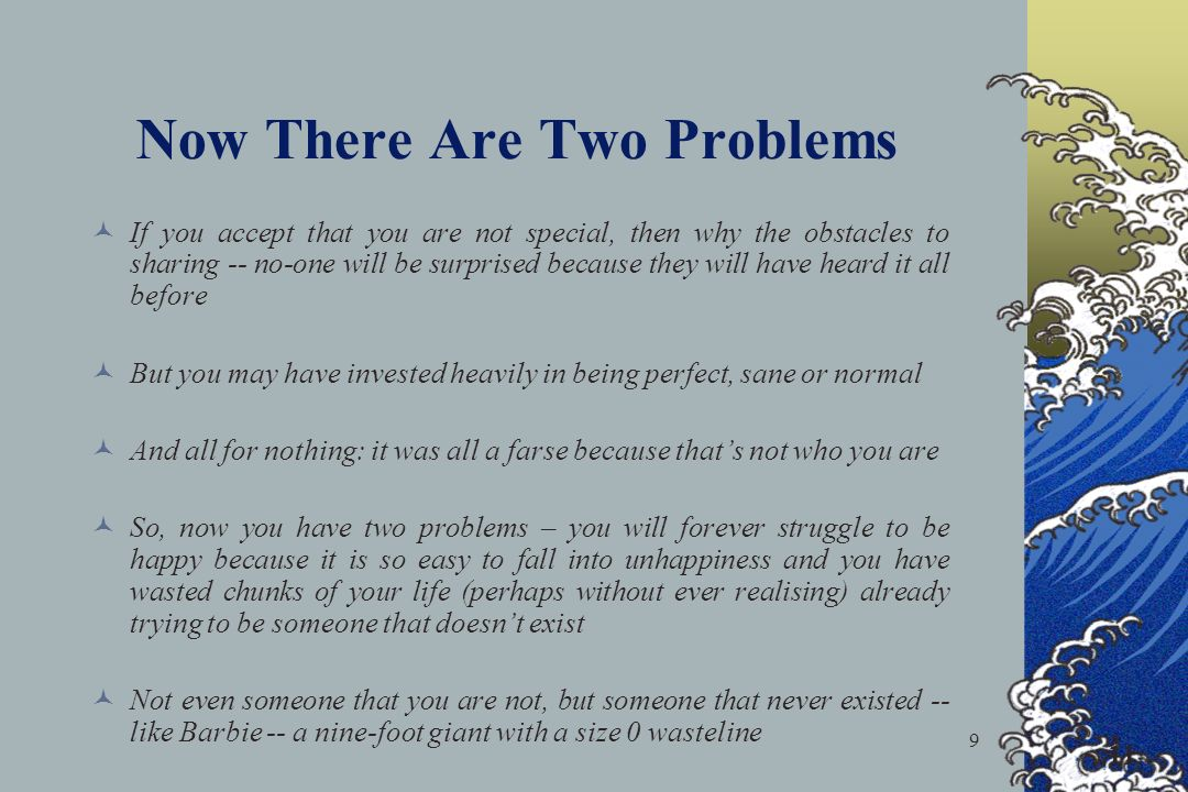 Now There Are Two Problems