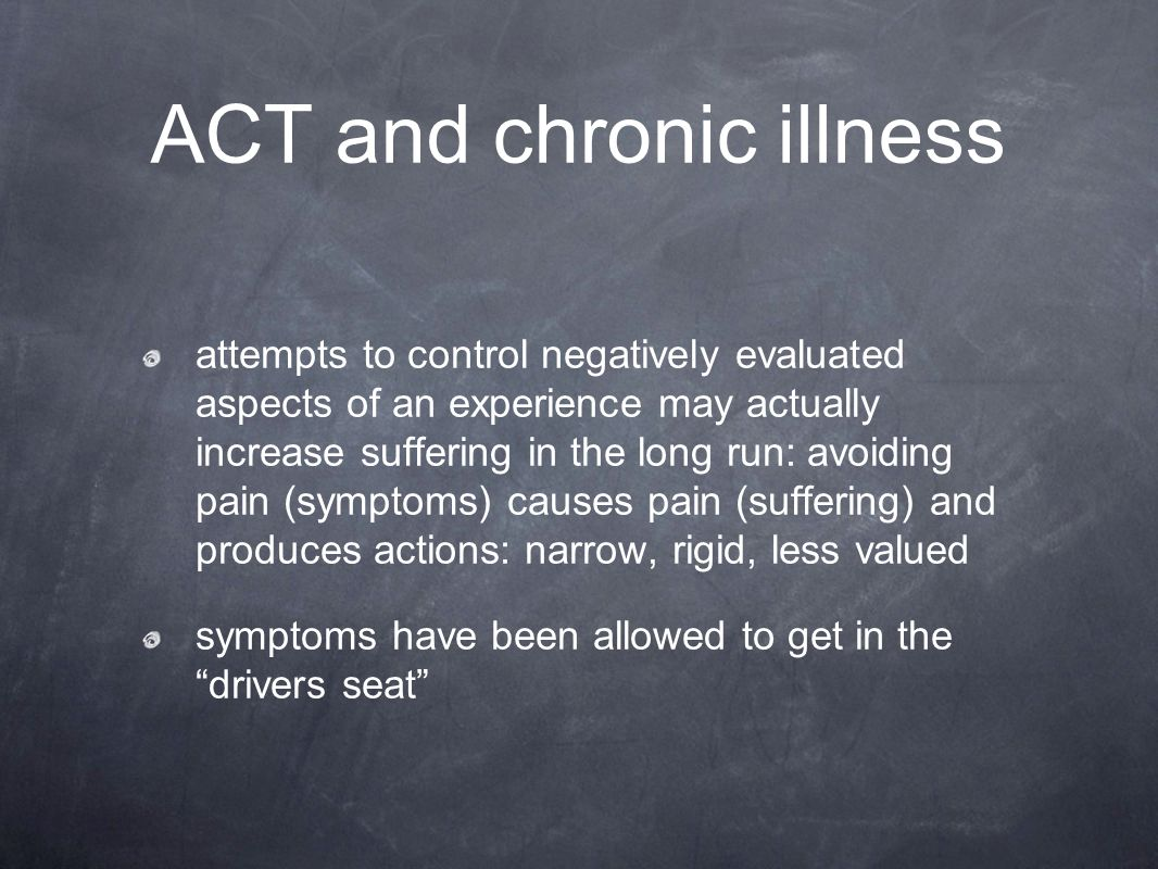 ACT and chronic illness