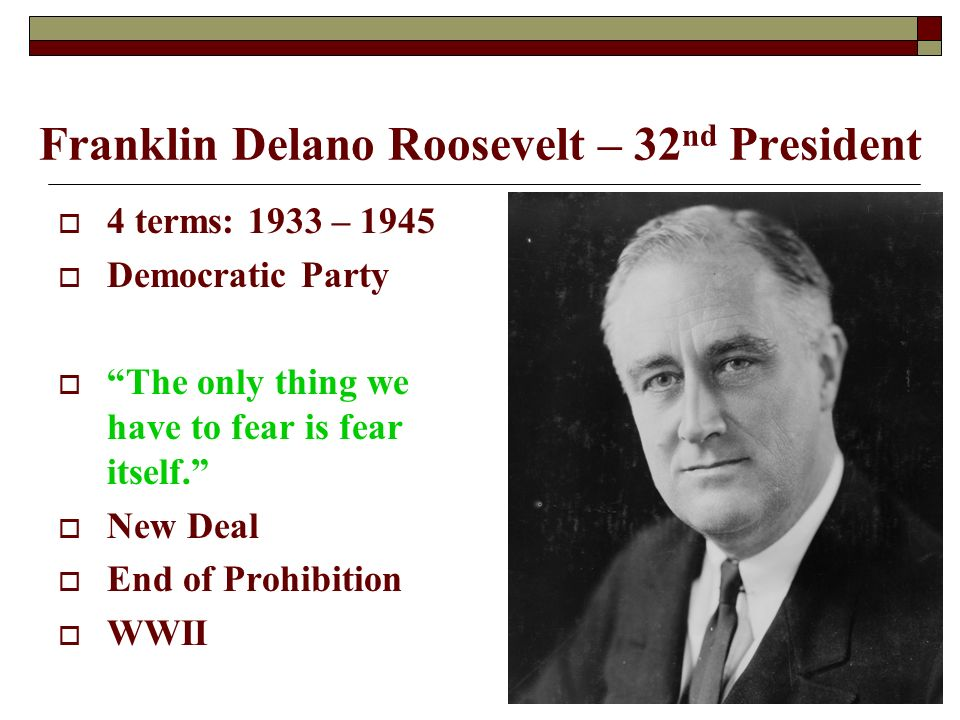 a discussion on franklin d roosevelts new deal as an act brought to put an end to the great depressi Act on june 18, 1934 part of the new deal from the great depression among other things, the new deal franklin delano roosevelt: a new deal.