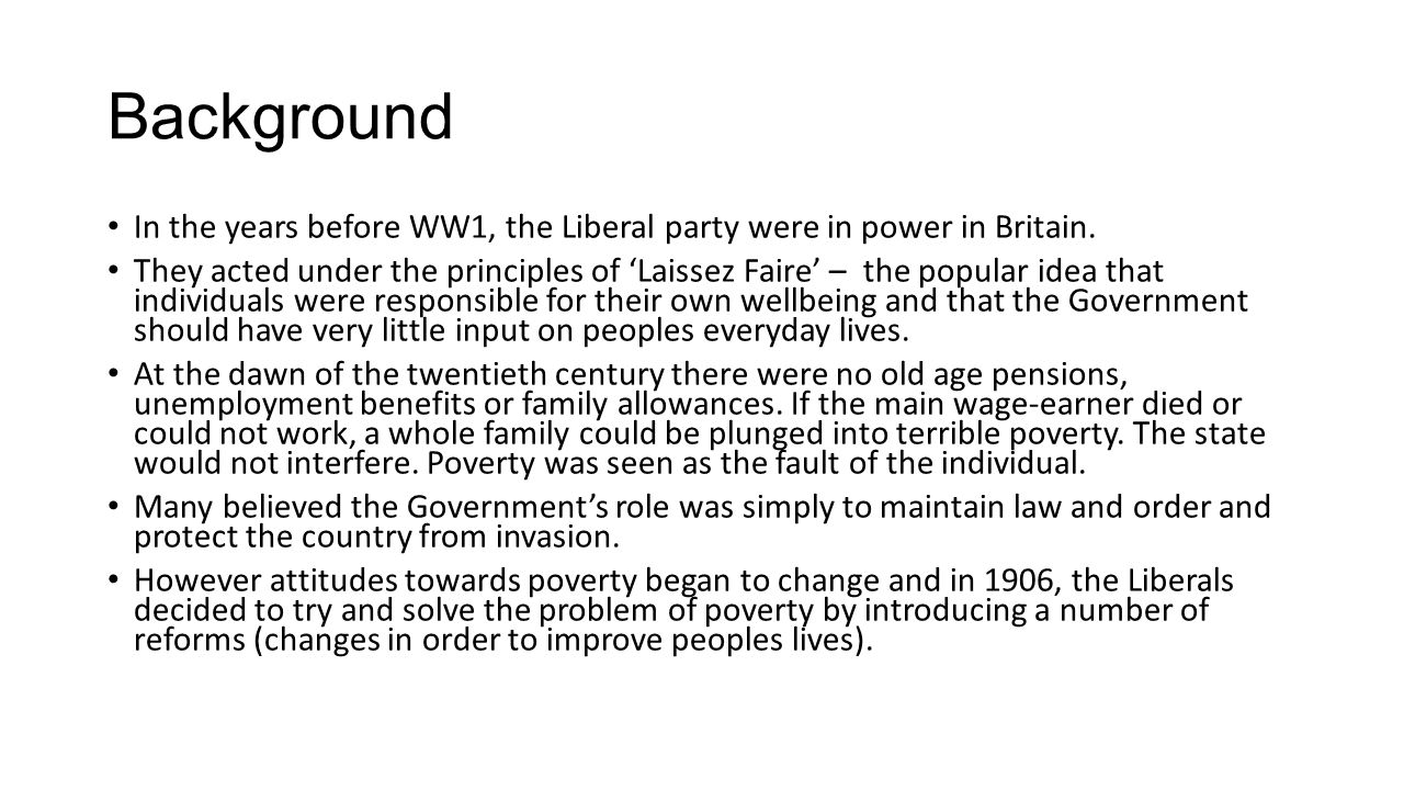 """why did the liberals introduce reforms The liberal reforms: why were they introduced """"merely a response to the threat of the labour party"""" how accurately does this statement explain the."""