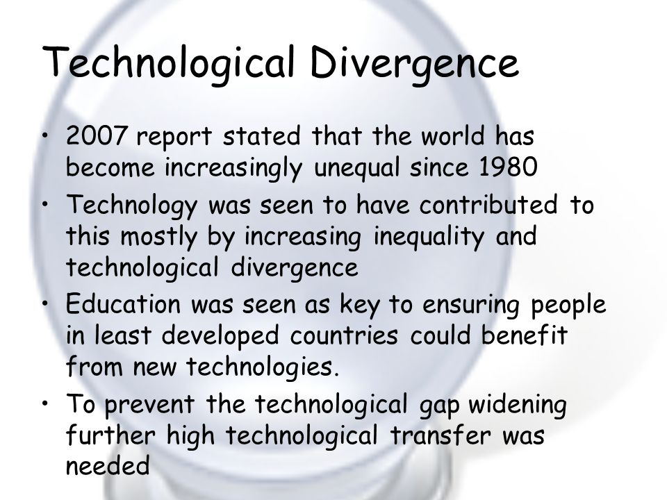 Technological Divergence