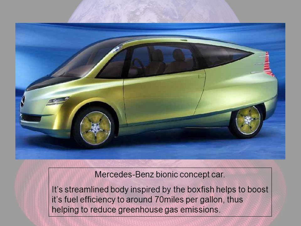 Mercedes-Benz bionic concept car.