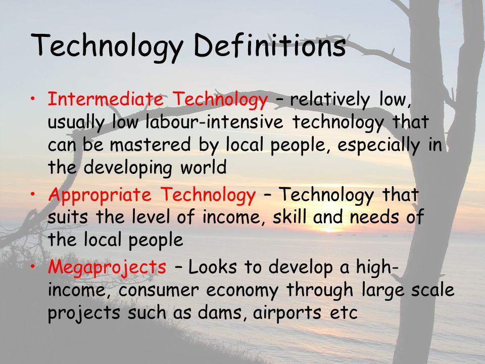 Technology Definitions