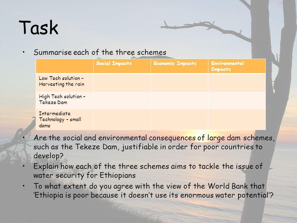Task Summarise each of the three schemes