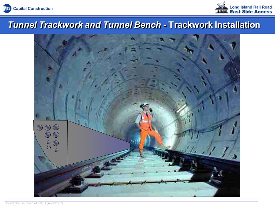 Tunnel Trackwork and Tunnel Bench - Trackwork Installation