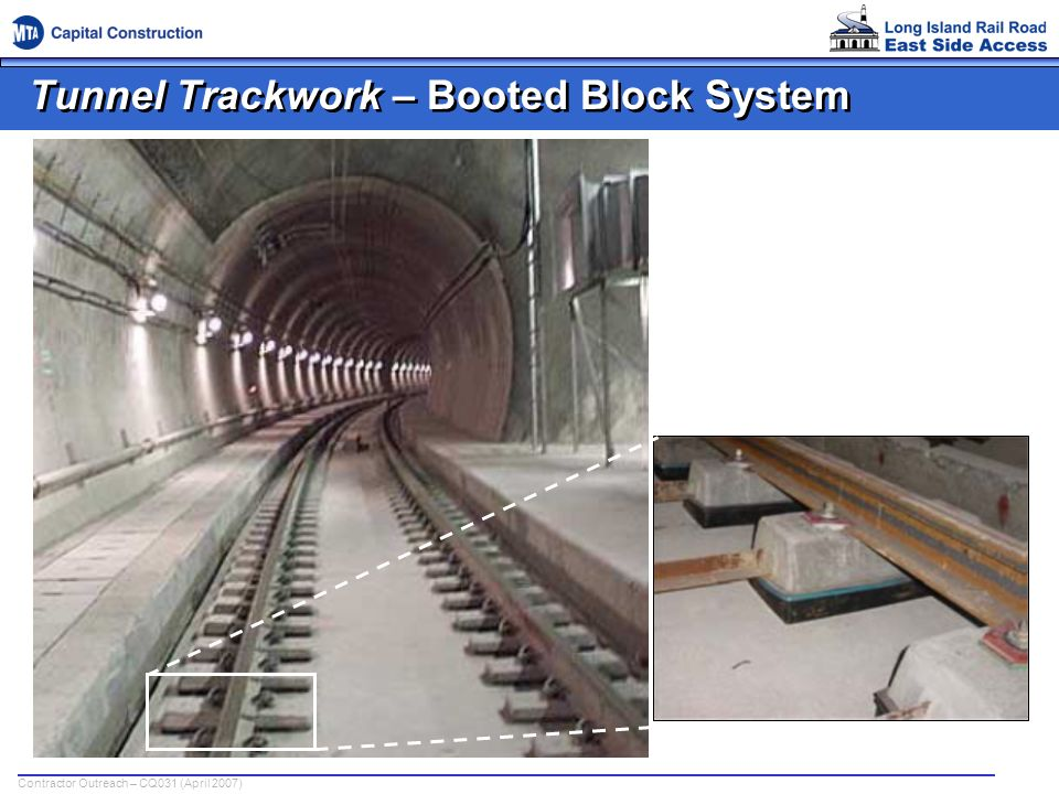 Tunnel Trackwork – Booted Block System