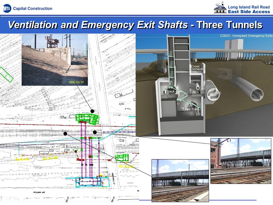 Ventilation and Emergency Exit Shafts - Three Tunnels