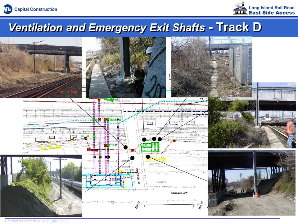 Ventilation and Emergency Exit Shafts - Track D