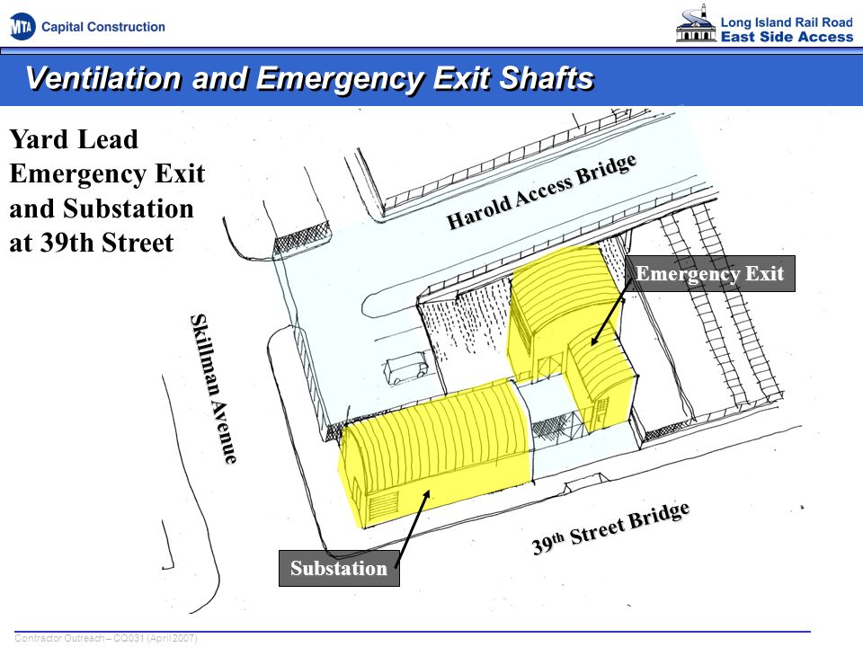 Ventilation and Emergency Exit Shafts