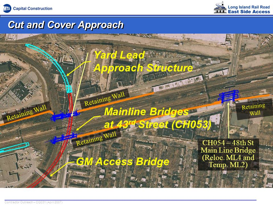 CH054 – 48th St Main Line Bridge (Reloc. ML4 and Temp. ML2)