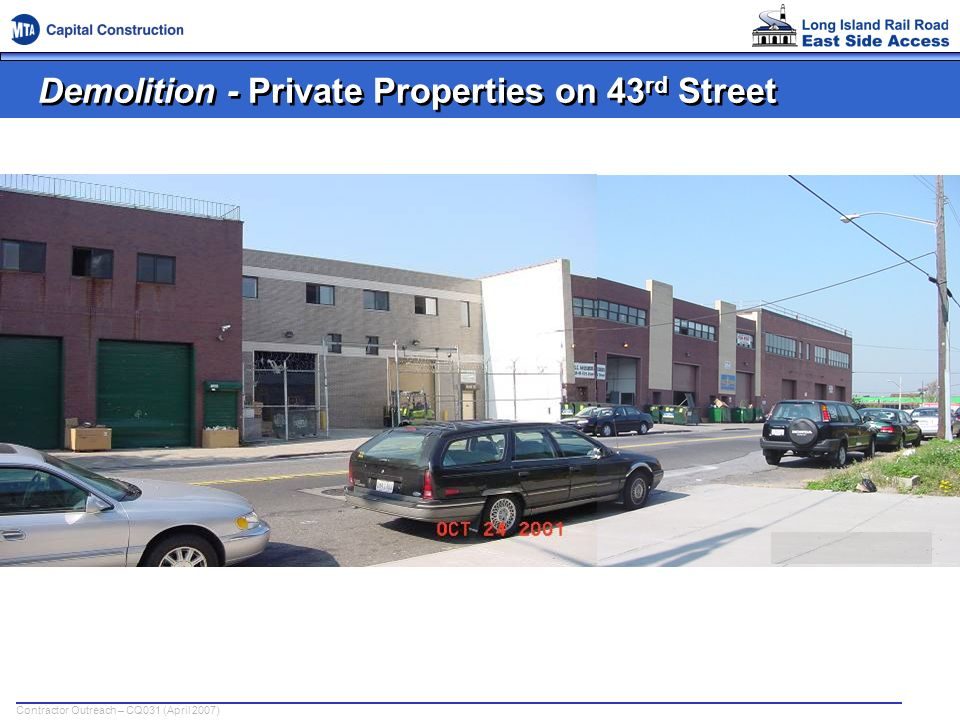 Demolition - Private Properties on 43rd Street
