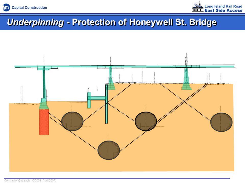 Underpinning - Protection of Honeywell St. Bridge