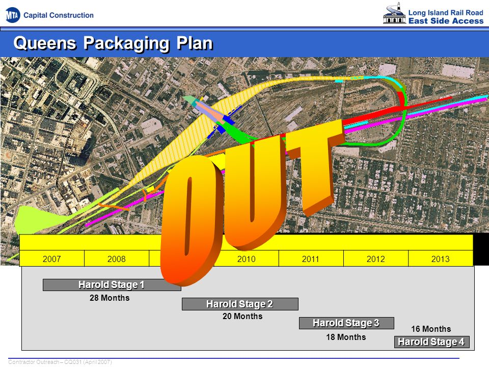 OUT Queens Packaging Plan Harold Stage 1 Harold Stage 2 Harold Stage 3