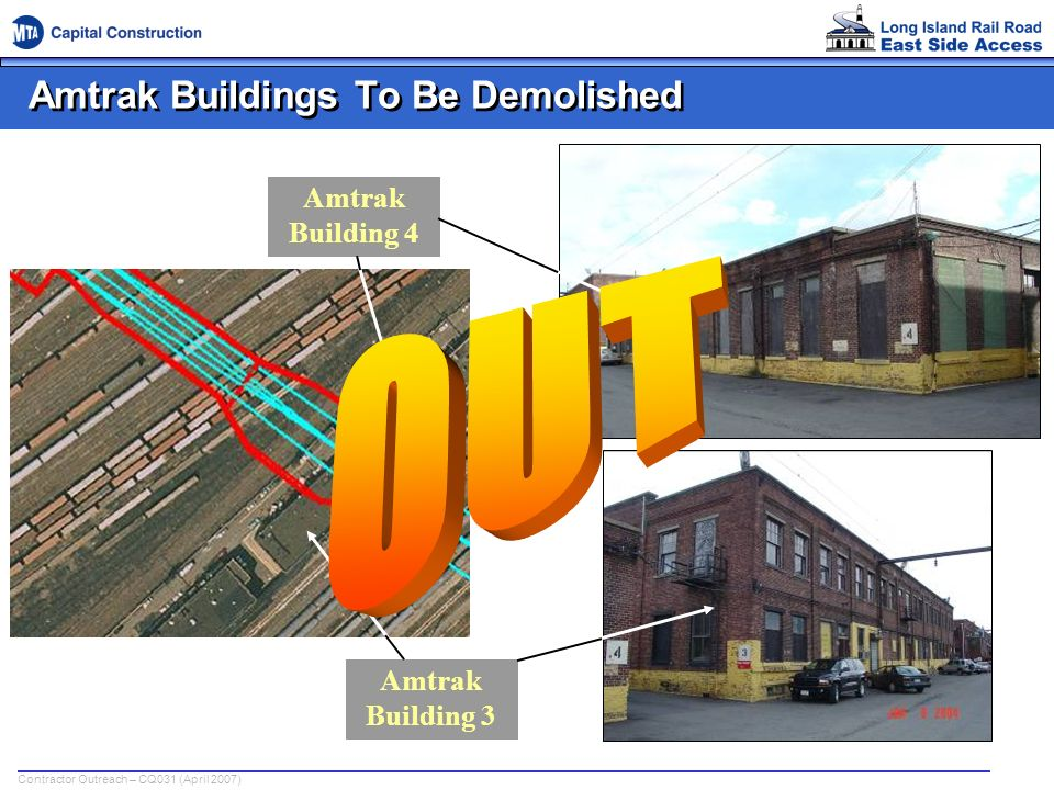 Amtrak Buildings To Be Demolished