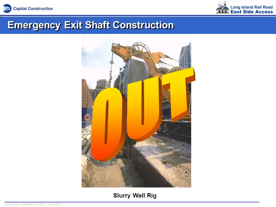 Emergency Exit Shaft Construction