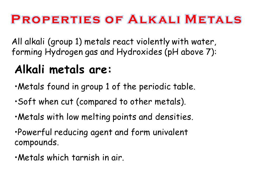 S block elements by manas mahajan ppt video online download properties of alkali metals urtaz Images