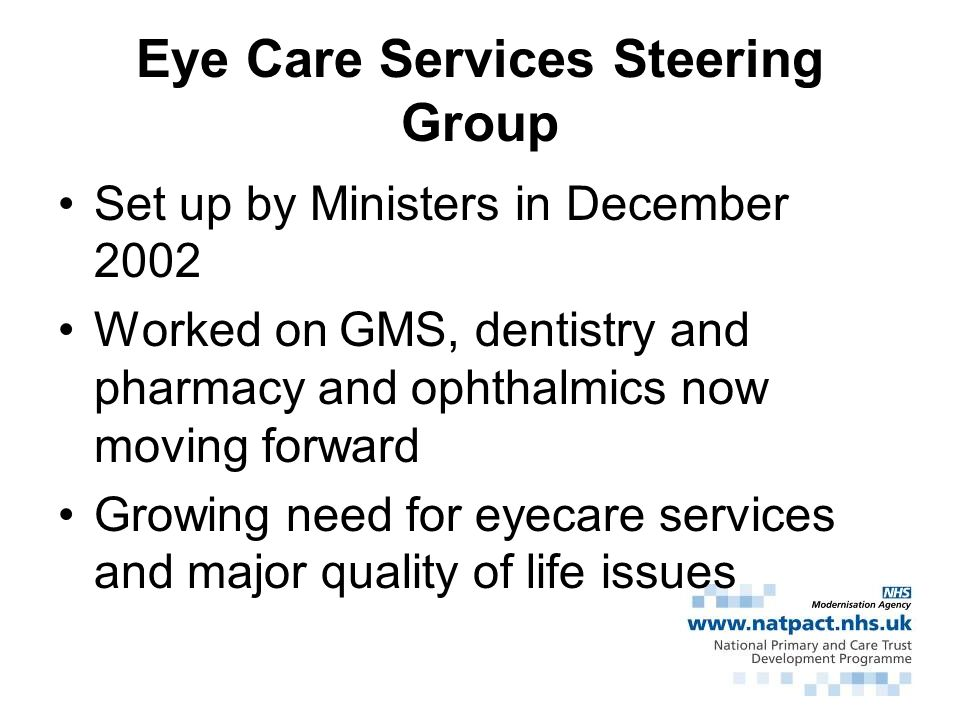Eye Care Services Steering Group