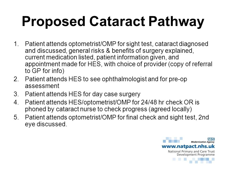 Proposed Cataract Pathway