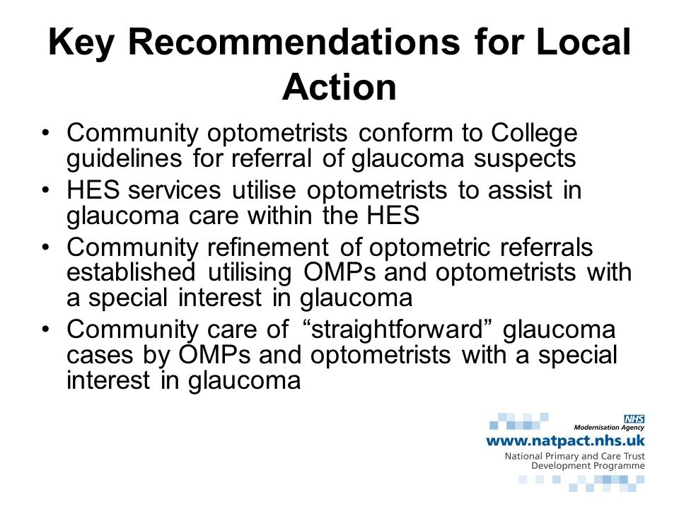 Key Recommendations for Local Action