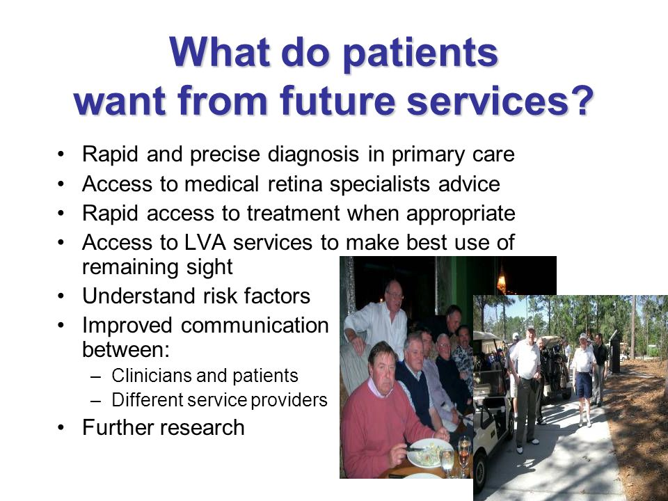 What do patients want from future services