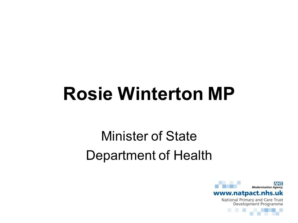 Minister of State Department of Health