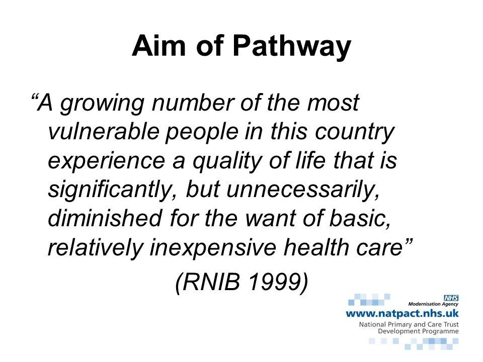 Aim of Pathway