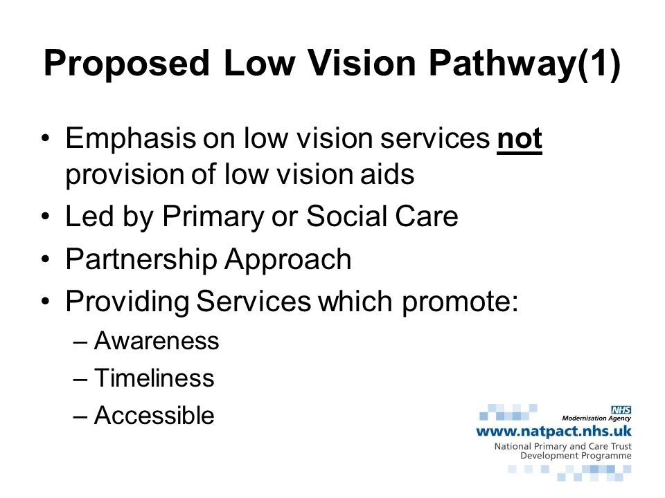 Proposed Low Vision Pathway(1)
