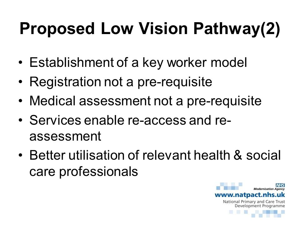 Proposed Low Vision Pathway(2)
